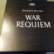 Discos de vinilo: BRITTEN. WAR RÉQUIEM. VINILO. ESTUCHE 2 LP.. Lote 207610116