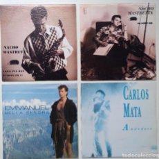 """Discos de vinilo: [[ LOTE 7"""" 45RPM ]] NACHO MASTRETTA -NO PUEDE SER / CARLOS MATA -AMANDOTE / EMMANUEL -BELLA SEÑORA. Lote 207610516"""