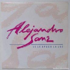 """Disques de vinyle: ALEJANDRO SANZ -SE LE APAGÓ LA LUZ [GRAN ÉXITO EDICIÓN ESPAÑOLA DE 1991] [[ VINILO 7"""" 45RPM ]]. Lote 207620142"""