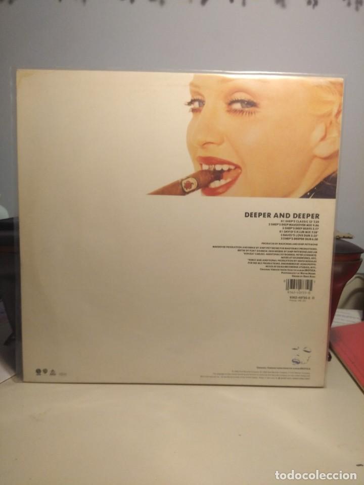 Discos de vinilo: LP MADONNA : : DEEPER AND DEEPER - Foto 2 - 207625940