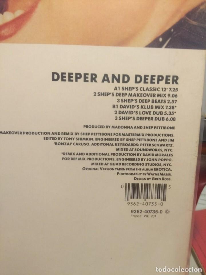 Discos de vinilo: LP MADONNA : : DEEPER AND DEEPER - Foto 3 - 207625940