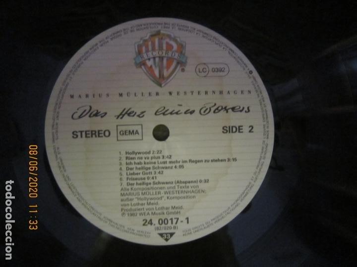 Discos de vinilo: MARIUS MULLER WESTERNHAGEN - DAS HEIZ LP - ORIGINAL ALEMAN - WARNER 1982 CON FUNDA INT. ORIGINAL - Foto 12 - 207640826
