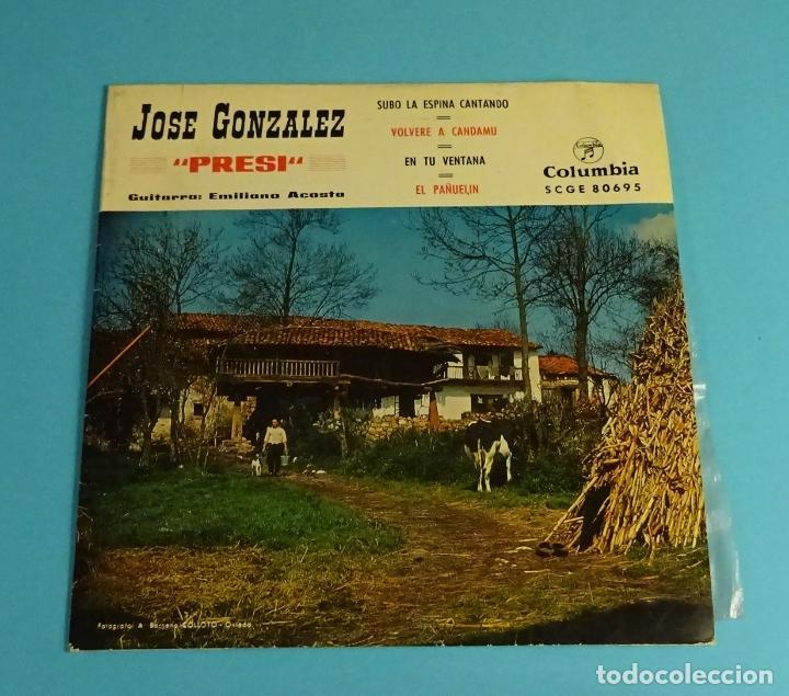 JOSÉ GONZÁLEZ - PRESI -. GUITARRA EMILIANO ACOSTA. COLUMBIA (Música - Discos de Vinilo - EPs - Flamenco, Canción española y Cuplé)