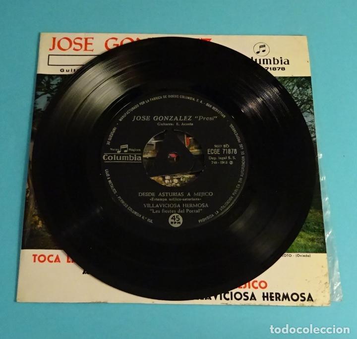 Discos de vinilo: JOSÉ GONZÁLEZ - PRESI -. GUITARRA E. ACOSTA. COLUMBIA - Foto 4 - 207651713