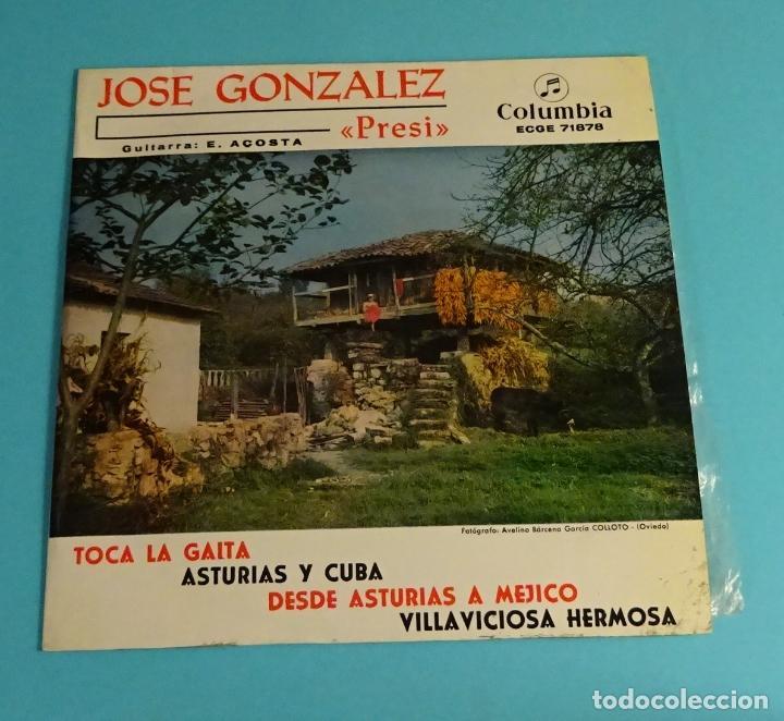 JOSÉ GONZÁLEZ - PRESI -. GUITARRA E. ACOSTA. COLUMBIA (Música - Discos de Vinilo - EPs - Flamenco, Canción española y Cuplé)