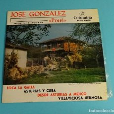 Discos de vinilo: JOSÉ GONZÁLEZ - PRESI -. GUITARRA E. ACOSTA. COLUMBIA. Lote 207651713