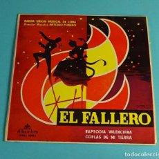 Discos de vinilo: BANDA UNIÓN MUSICAL DE LIRIA. DIRECTOR: ANTONIO PEINADO. RAPSODIA VALENCIANA. COPLAS DE MI TIERRA. Lote 207655562