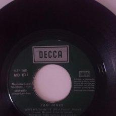 Discos de vinilo: SINGLE ---- TOM JONES - AÑO 1969 -VER FOTOS. Lote 207672211