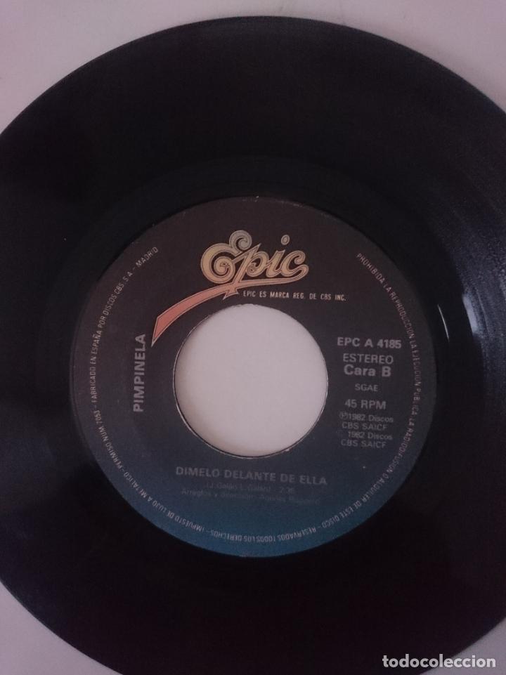 Discos de vinilo: SINGLE - PIMPINELA - AÑO 1982 -VER FOTOS - Foto 2 - 207676115
