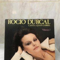 Discos de vinilo: ROCIO DURCAL CANTA A JUAN GABRIEL VOLUMEN 2 LP DISCO VINILO RANCHERAS MARIACHI ARIOLA STEREO. Lote 207681750