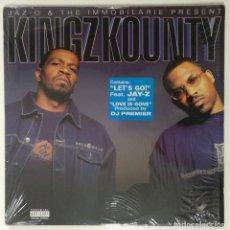 """Discos de vinilo: JAZ-O & THE IMMOBILARIE PRESENT KINGZ KOUNTY 2XLP ALBUM VINILO RAP / US HIPHOP 2002 (12"""" ALBUM). Lote 207666608"""
