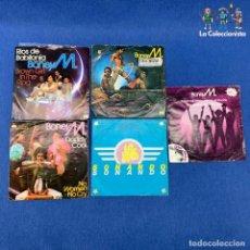 Discos de vinilo: LOTE DE 5 SINGLES BONY M - VERD ESCRIPCIÓN. Lote 207696740
