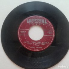 Dischi in vinile: RICKY NELSON - BE-BOP BABY / HAVE I TOLD YOU LATELY THAT I LOVE YOU - SINGLE IMPERIAL USA 1957. Lote 207709421