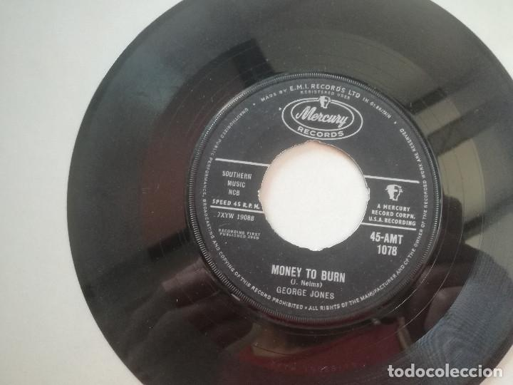 Discos de vinilo: GEORGE JONES - Money To Burn / Big Harlan Taylor - SINGLE MERCURY UK 1960 - Foto 1 - 207710931