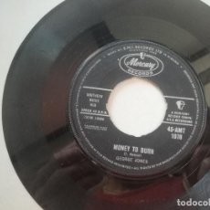 Discos de vinilo: GEORGE JONES - MONEY TO BURN / BIG HARLAN TAYLOR - SINGLE MERCURY UK 1960. Lote 207710931