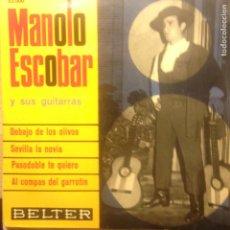 Discos de vinilo: MANOLO ESCOBAR Y SUS GUITARRAS DEBAJO DE LOS OLIVOS. Lote 207715425