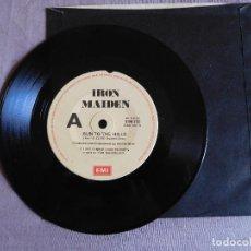 Discos de vinilo: IRON MAIDEN 7 SINGLE. RUN TO THE HILLS. AUSTRALIA. Lote 207721682