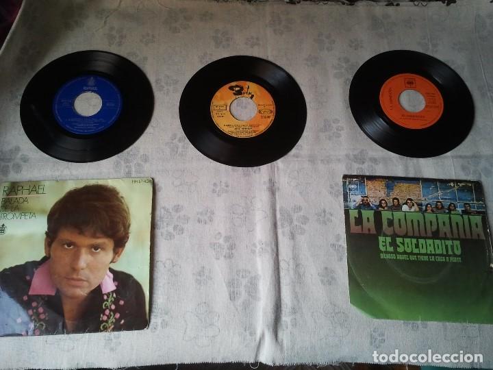 TRES DISCOS DE VINILO RETRO DE RAPHAEL, MIKE KENNEDY Y LA COMPAÑÍA. ANTIGUOS DJ (Música - Discos - Singles Vinilo - Grupos Españoles 50 y 60)