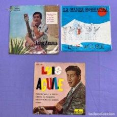 Discos de vinilo: SINGLE - LOTE DE 3 SINGLES LUIS AGUILÉ. Lote 207731165