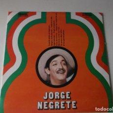 Discos de vinilo: JORGE NEGRETE,1972, ED ESPECIAL CIRCULO DE LECTORES, ORLADOR, 10 PULGADAS. Lote 207736363