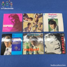 Disques de vinyle: LOTE 6 SINGLES DE RAPHAEL - VER DESCRIPCIÓN. Lote 207737876
