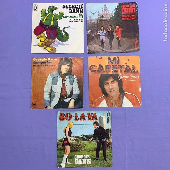 SINGLE - LOTE DE 5 SINGLES GEORGIE DANN- CASATSCHOK -MI CAFETAL -CAMPESINO PALOMA - BOLAVA -EL DIN. (Música - Discos - Singles Vinilo - Solistas Españoles de los 50 y 60)