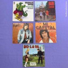 Discos de vinilo: SINGLE - LOTE DE 5 SINGLES GEORGIE DANN- CASATSCHOK -MI CAFETAL -CAMPESINO PALOMA - BOLAVA -EL DIN.. Lote 207738636