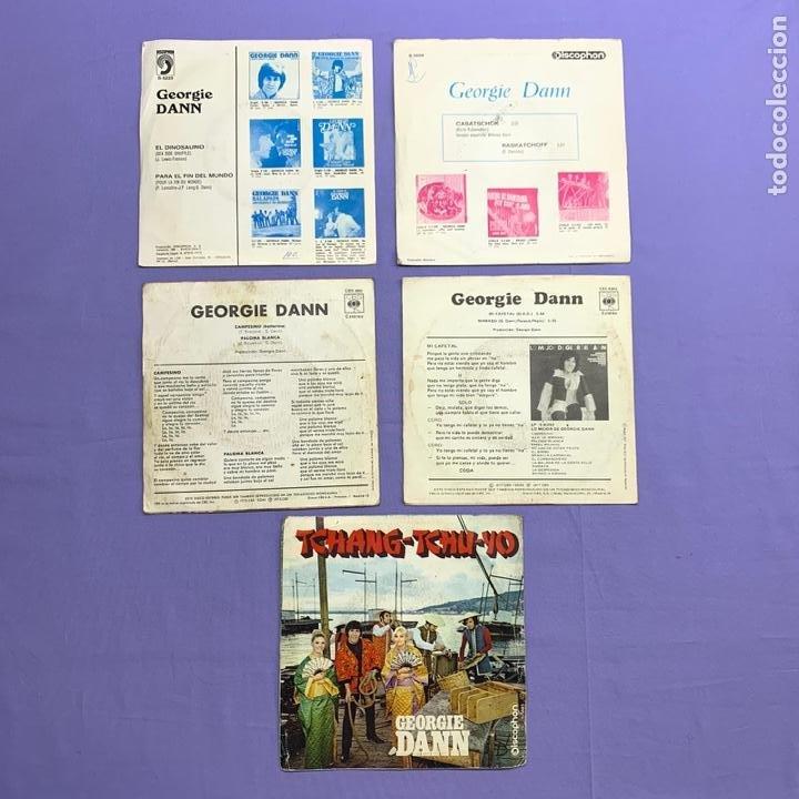 Discos de vinilo: SINGLE - LOTE DE 5 SINGLES GEORGIE DANN- CASATSCHOK -MI CAFETAL -CAMPESINO PALOMA - BOLAVA -EL DIN. - Foto 2 - 207738636