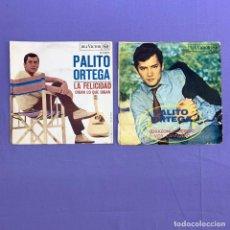 Discos de vinilo: SINGLE - LOTE DE 2 SINGLES PALITO ORTEGA - CORAZON CONTENTO- LA FELICIDAD DIGAN LO QUE DIGAN. Lote 207739996