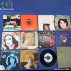 Discos de vinilo: LOTE 11 SINGLES DE CAMILO SESTO - ANGELA CARRASCO - SANDRO - NINO BRAVO - VER DESCRIPCIÓN. Lote 207742900
