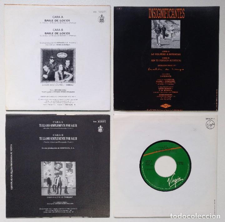 """Discos de vinilo: [[ LOTE 7"""" 45RPM ]] Intrusos / El Alma -Baile de locos / Insignificantes Lo Volveré / E.P. -Cuentame - Foto 2 - 207744478"""