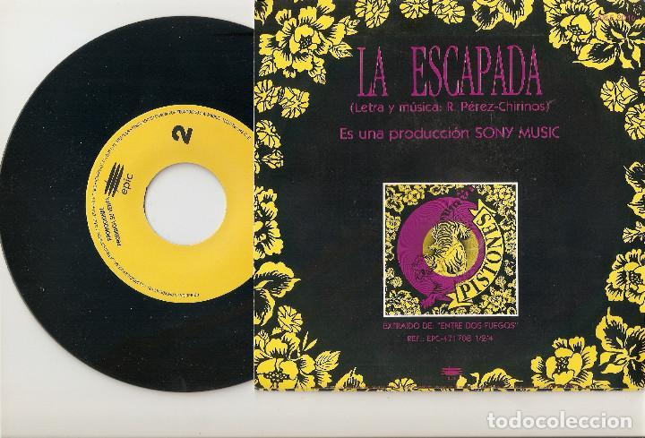 """Discos de vinilo: PISTONES 7"""" SPAIN 45 LA ESCAPADA SINGLE VINILO 1992 SPANISH POP ROCK PROMOCIONAL 1 SOLA CARA RARO !! - Foto 2 - 207744673"""