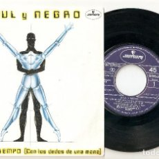"""Discos de vinilo: AZUL Y NEGRO 7"""" SPAIN 45 NO TENGO TIEMPO SINGLE VINILO 1983 SPANISH ELECTRONIC SYNTH POP BUEN ESTADO. Lote 207751903"""