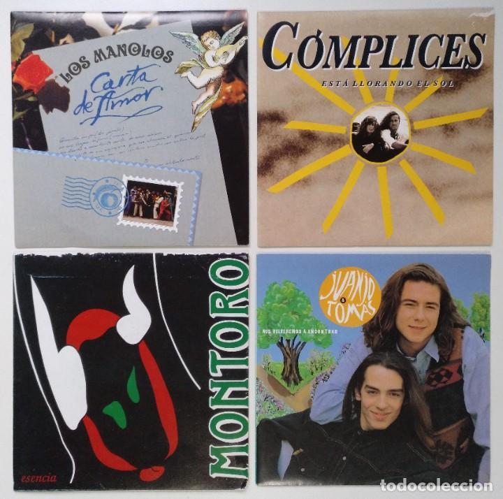 """[[ LOTE 7"""" 45RPM ]] CÓMPLICES / JUANJO & TOMAS / LOS MANOLOS -CARTA DE AMOR / MONTORO (Música - Discos - Singles Vinilo - Grupos Españoles de los 90 a la actualidad)"""