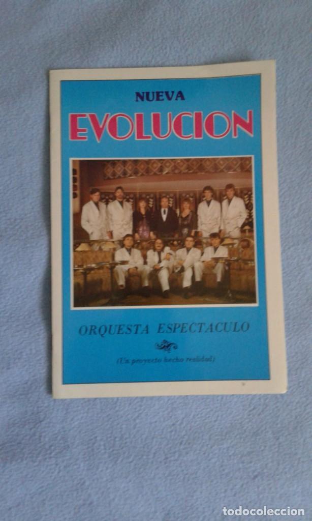 CUADRÍPTICO NUEVA EVOLUCION ORQUESTA ESPECTACULO - 25X17 CM..- BUEN ESTADO (Música - Discos de Vinilo - EPs - Orquestas)