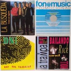 """Discos de vinilo: [[ LOTE 7"""" 45RPM ]] LA BÚSQUEDA / CIUDAD JARDÍN / DNI / LA TRAMPA -BAILANDO ROCK AND ROLL. Lote 207761585"""