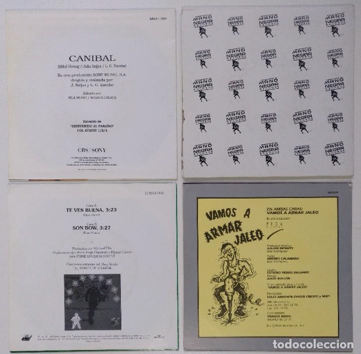 "Discos de vinilo: [ LOTE 7"" 45RPM ] Mikel Herzog -Canibal / Amos Del Mundo /El General / La Burla -Vamos A Armar Jaleo - Foto 2 - 207766770"