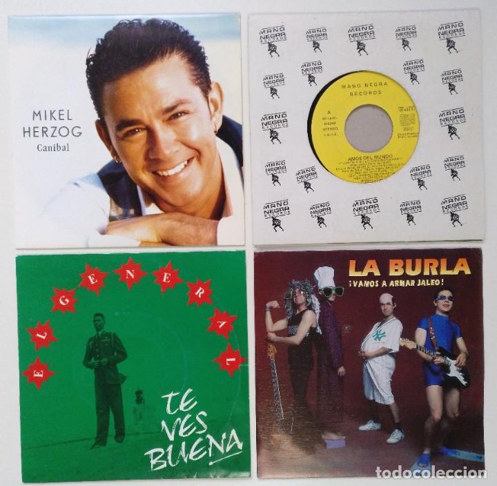 """[ LOTE 7"""" 45RPM ] MIKEL HERZOG -CANIBAL / AMOS DEL MUNDO /EL GENERAL / LA BURLA -VAMOS A ARMAR JALEO (Música - Discos - Singles Vinilo - Grupos Españoles de los 90 a la actualidad)"""