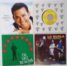 """Discos de vinilo: [ LOTE 7"""" 45RPM ] MIKEL HERZOG -CANIBAL / AMOS DEL MUNDO /EL GENERAL / LA BURLA -VAMOS A ARMAR JALEO. Lote 207766770"""