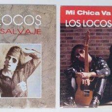 """Discos de vinilo: ((LOTE 2 MAXIS)) LOS LOCOS -MI CHICA VA A MATARME / LOS LOCOS -ALGO SALVAJE [[ LOTE 7"""" 45RPM ]]. Lote 207772978"""