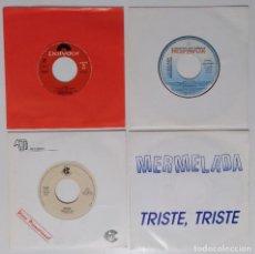 """Discos de vinilo: [[ LOTE 7"""" 45RPM ]] LA DÉCADA PRODIGIOSA / DRAMA /LA RED -CONFÍA / MERMELADA -TRISTE TRISTE. Lote 207785272"""
