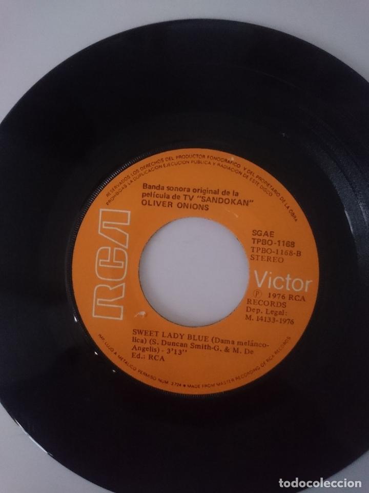 Discos de vinilo: SINGLE - B.S.O. SERIE TELEVISION SANDOKAN - AÑO 1976 -VER FOTOS - Foto 2 - 207788227