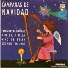 Discos de vinilo: TRIO JUVENTUD - CAMPANAS DE NAVIDAD - EP SPAIN 1965 - PHILIPS 436 356 PE - BORT. Lote 207794683