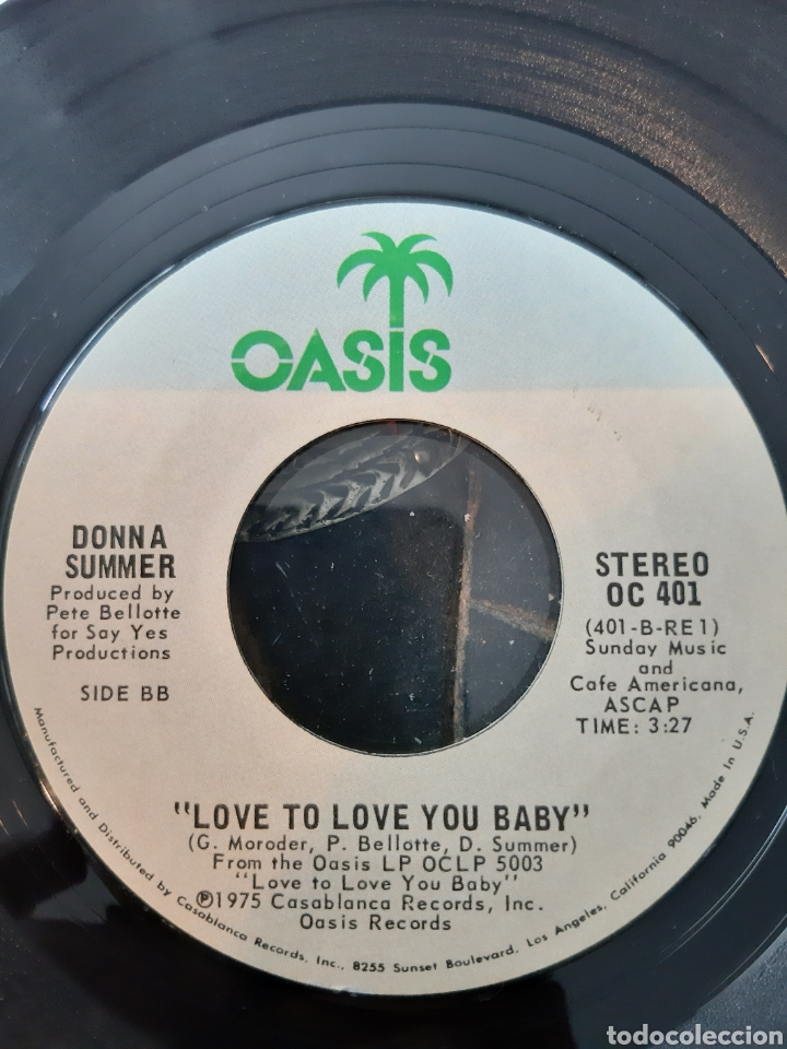 Discos de vinilo: DONNA SUMMER. LOVE TO LOVE TOU BABY. OASIS. MADE IN USA. 1975 - Foto 2 - 207837418