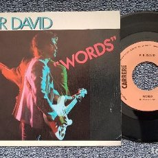 Discos de vinilo: F-R DAVID - WORDS / WHEN THE SUN GOES DOWN. EDITADO POR CBS. AÑO 1.982. Lote 207846941