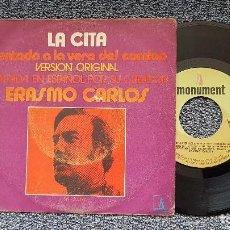 Discos de vinilo: ERASMO CARLOS - SENTADO A LA VERA DEL CAMINO / TODAS LAS MUJERES DEL MUNDO. AÑO 1.969. Lote 207852287