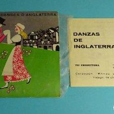 Discos de vinilo: RITMES I DANSES. DANSES D'ANGLATERRA.. LIBRETO EXPLICATIVO. EP / TIC PRODUCTORA - 1970. Lote 207854573