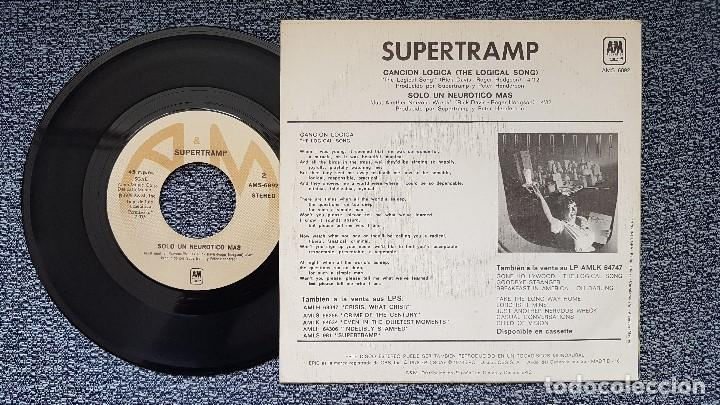 Discos de vinilo: Supertramp - The logical song / Just another nervous wreck. Año 1.978. editado por CBS - Foto 2 - 207860092