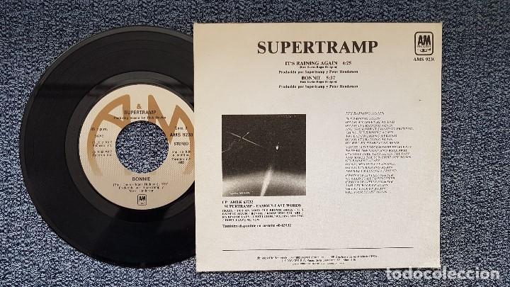 Discos de vinilo: Supertramp - It´s raining again / Bonnie. editado por CBS. año 1.982 - Foto 2 - 207860592
