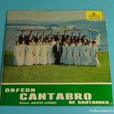 Discos de vinilo: ORFEÓN CÁNTABRO DE SANTANDER. DIRECTOR: AGUSTÍN LATIERRO. 1966. Lote 207866740